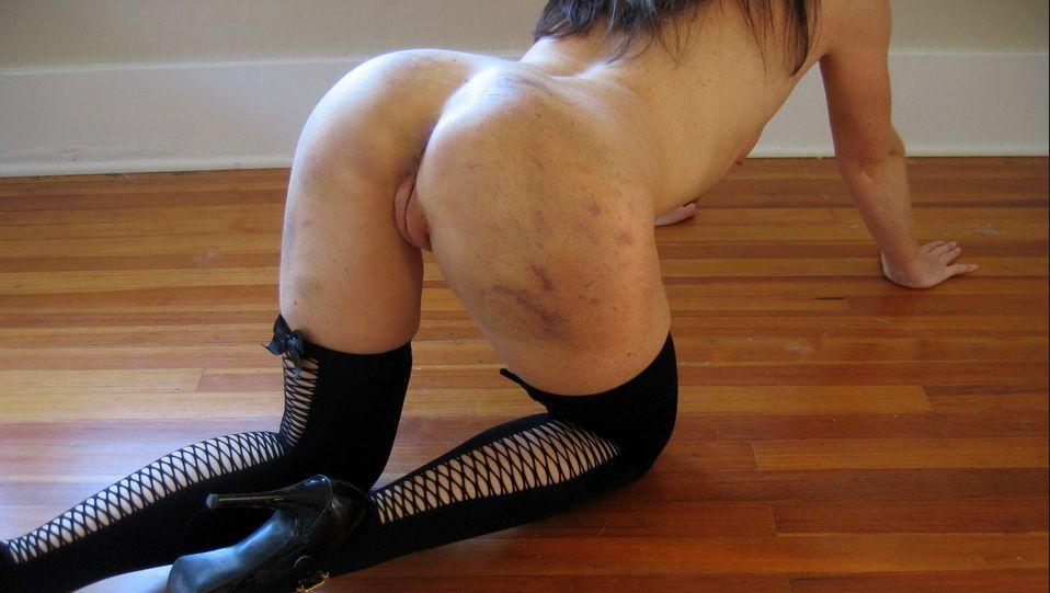 Spanking com marcas - BDSM