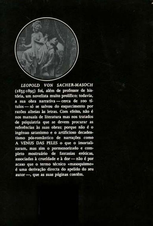 Contra-capa do Livro A Vênus das Peles / Sacher-Masoch